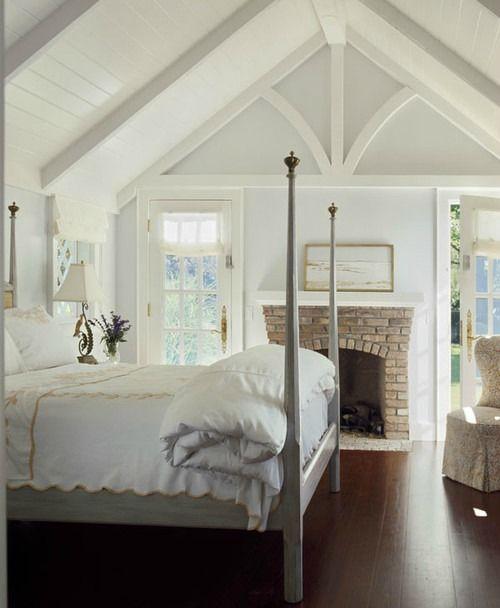 brick bedroom fireplace