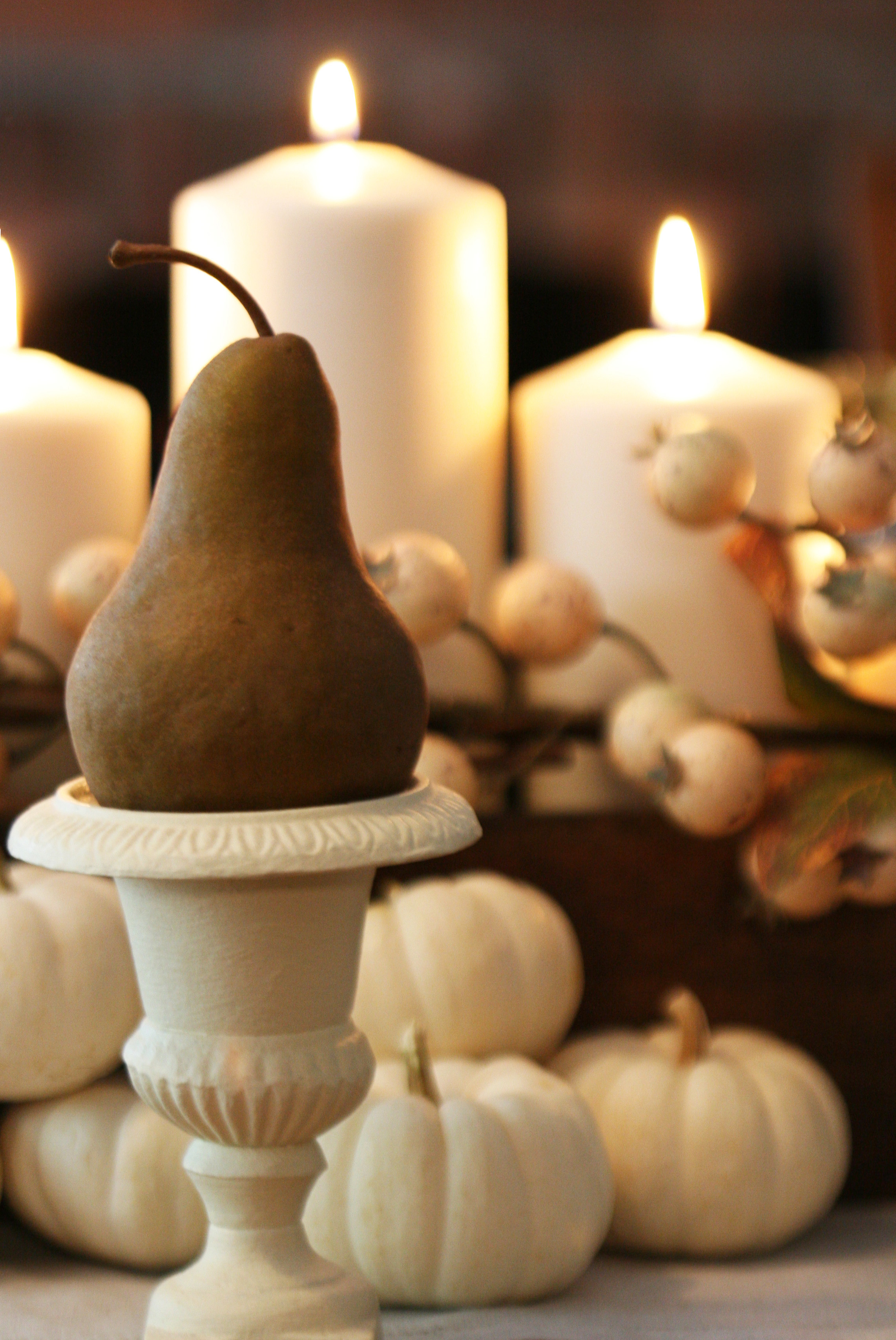 centerpiece-pear & pumpkins-3
