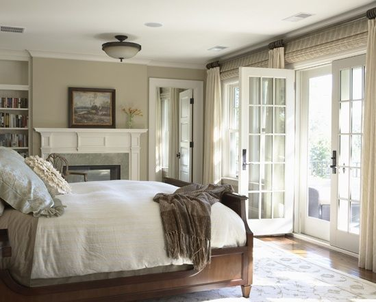 french door fireplace