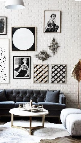 gallery wall-elledecor.com