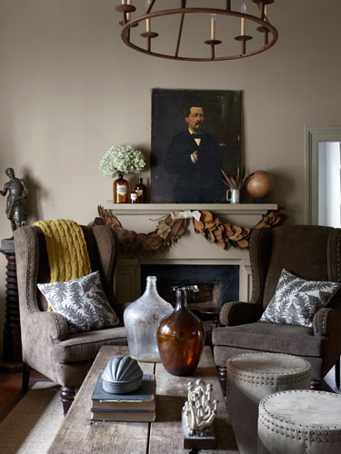 wingchair fireplace